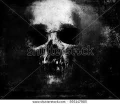 scary grunge skull isolated on black stock illustration 595147985