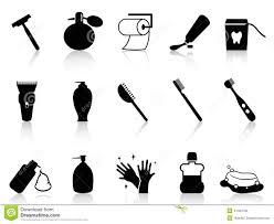 Black Bathroom Accessories by Black Bathroom Accessories Icon Set Stock Vector Image 41464768