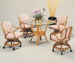 dining table with caster chairs classic rattan dining page 2 wicker dining furniture rattan