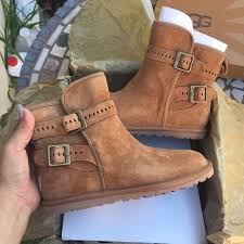 womens ugg leni boots 48 ugg shoes ugg chestnut leni ankle boots sz 5 from
