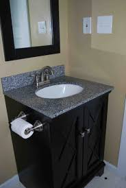 bathroom vessel sinks brown mosaic ceramic floor tile wall dark