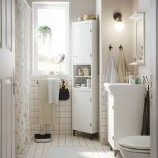 fitted bathroom ideas floral shower curtain and white wall tiles using classic furniture