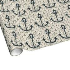 anchor wrapping paper coral and white anchors pattern 1 wrapping paper coral background