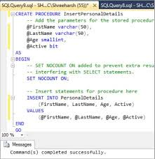 t sql insert into new table insert record stored procedure in sql server tech funda