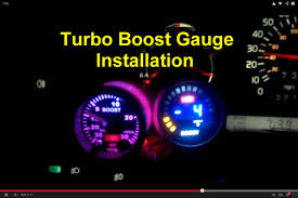 Boost Controller Wiring Diagram How To Install A Turbo Boost Gauge Votd Youtube