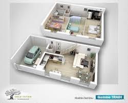 plan maison etage 3 chambres modele maison bastidou 741 univia