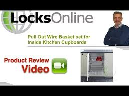 Pull Out Wire Baskets Kitchen Cupboards by Pull Out Wire Basket Set For Inside Kitchen Cupboards Locksonline