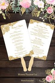 wedding fan programs diy wedding program fans templates for diy ceremony fan wedding
