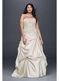 embroidered satin plus size wedding dress david u0027s bridal