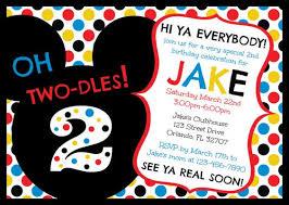 mickey mouse 2nd birthday invitations kawaiitheo com