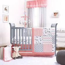 the peanut shell 4 piece baby crib bedding set uptown coral