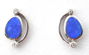 blue opal earrings opal earrings buy opal earrings uk shop real opal jewellery
