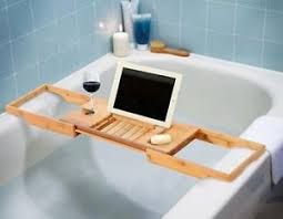 Tray For Bathtub Bamboo Bathtub Caddy Tray Bath Tub Adjustable Wine Holder Book