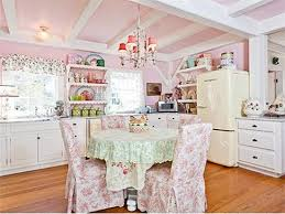 Shabby Chic Decorating by 1008313 12 Kirstie Alley U0027s Super Feminine Kitchen Her Home Is For