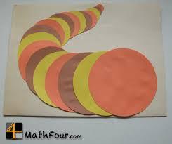 thanksgiving math craft concentric circles cornucopia mathfour
