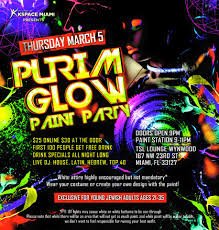 glow paint party south florida nights magazine purim glow in the paint party