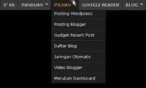 cara membuat menu dropdown keren cara memasang menu dropdown di blog whatsapp status