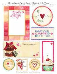 gifts from the kitchen ideas gooseberry patch u0027s sweet shoppe collection of tags recipe cards