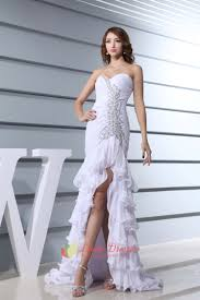 white high low prom dresses 2016 white prom dresses with open back