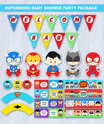 batman baby shower decorations baby shower baby shower party package