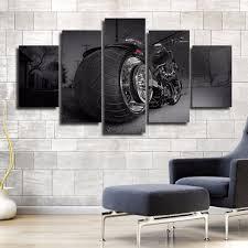 motorcycle home decor motorcycle bike chopper sports 5pcs painting printed canvas wall