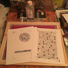 screen printing using the baby oil technique step by step notes