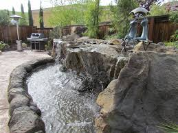 Backyard Waterfall Ideas by Waterfall Backyard Resort Style Backyard Water Features