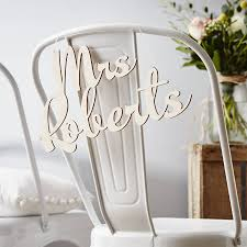 wedding chair signs personalised wooden wedding chair sign by