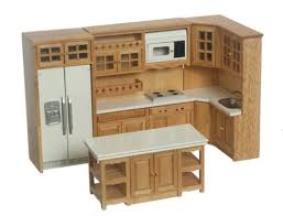 kitchen furniture set dollhouse miniature kitchen furniture set in oak 1 12 inch scale