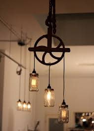 How To Mason Jar Chandelier Light Fixture Chandelier Rustic Editonline Us