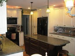 Kitchen Ideas With Black Appliances by Hang Nickel Pendant Lamp Lighting Kitchens With Black Appliances