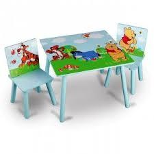 bureau winnie table et 2 chaises winnie disney