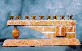 jerusalem menorah the ten commandments on jerusalem chanukah menorah with