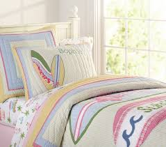 Girls Quilted Bedding by Malibu Quilted Bedding Pottery Barn Kids