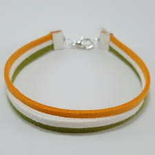 Flags That Are Orange White And Green Listed On Depop By Marlarbracelets Suede Bracelet Irish Flags