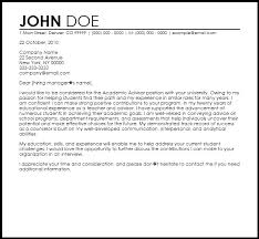 perfect academic advising cover letter 71 with additional resume