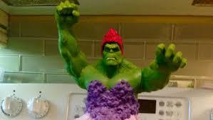 mom breaks superhero mold baking incredible hulk princess cake