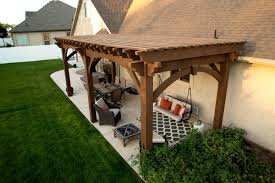 Swing Pergola by Early American Backyard Daily Holiday Getaway Western Timber Frame
