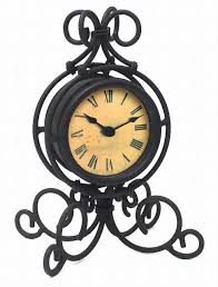 Black Iron Table Clock From Theisen Clock Novelty