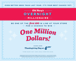 navy s second annual overnight millionaire giveaway offers