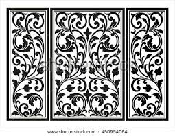 vector vintage border frame logo engraving stock vector 450954064