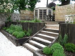 Split Level Garden Ideas Gardens With Sleepers Ideas For You Split Level Low Maintenance