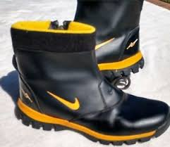yellow boots s nike youth watershield ankle zip black yellow boots size