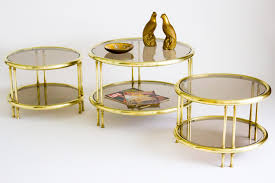 circular brass and glass coffee table janneys collection rectan
