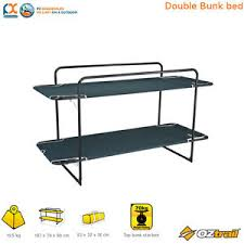 Oztrail Double Bunk Bed Camping Outdoors Portable Single Bed Trio - Oztrail bunk beds