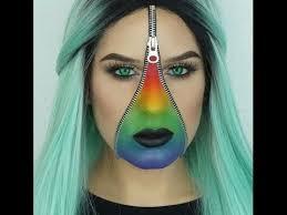 zipper face halloween makeup tutorial youtube