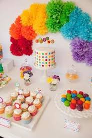 Rainbow Party Decorations Clare U0027s Rainbow Party Rainbow Flowers Themed Parties And Rainbows