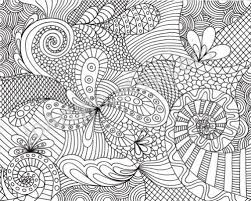 95 coloring pages adults abstract flowers desenhos