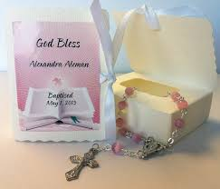 rosary favors for baptism baptism rosary favors