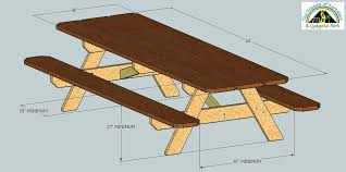 Designs For Wooden Picnic Tables by Ada Compliant Picnic Tables 5 Steps With Pictures